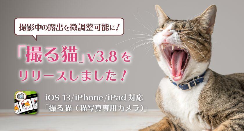 撮影中の露出を微調整可能に!「撮る猫」v3.8をリリースしました!