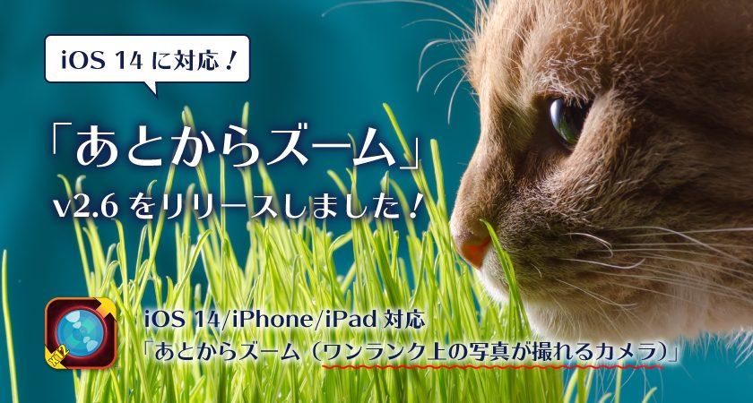 iOS 14 に対応!「あとからズーム」v2.6 をリリースしました!